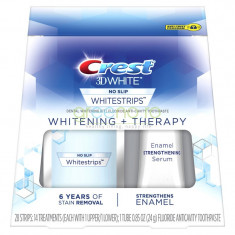 Crest Whitestrips 3D Whitening + Therapy – Cutie 14 Plicuri + Ser Intarire Smalt