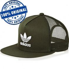 Sapca Adidas Originals Trefoil Trucker - sapca originala, Marime universala, Khaki
