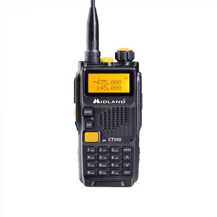 Resigilat : Statie radio VHF/UHF portabila Midland CT590 dual band 136-174Mhz - 40