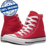 Pantofi sport Converse Chuck Taylor All Star Hi pentru barbati - tenisi panza, 40, 41.5, 42, 43, Rosu, Textil