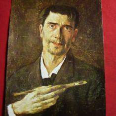 Ilustrata -Personalitati- Stefan Luchian-autoportret, Necirculata, Printata