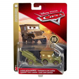 Masinuta Sarge cu tun Cars Deluxe