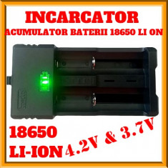 Incarcator Acumulatori,Baterii,Incarcator Dublu  3,7v, 4,2v, 18650