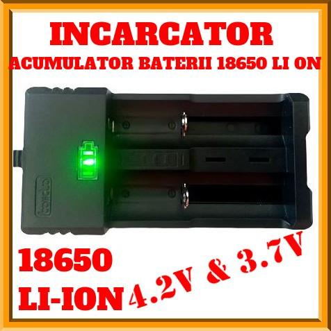 Incarcator Dublu Acumulatori,Baterii, 3,7v, 4,2v, 18650
