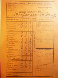 Mapa cu 6 Fise de note si Observatii la Institutul Sfanta Maria1939-1942 Baratia