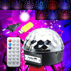 Glob Disco cu Senzor de Muzica si 10 Moduri de Operare