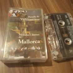 CASETA AUDIO PARADO DE VALLDEMOSSA-MELODIES I DANSES DE MALLORCA ORIGINALA, Casete audio