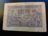 BANCNOTE ROMANESTI 1LEU 1915 VICE GUVERNATOR SERIE CU 2 CIFRE RARA