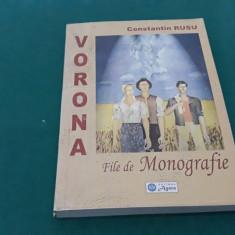 VORONA*FILE DE MONOGRAFIE/CONSTANTIN RUSU/ 2003