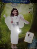 Costum Iarnă Crăciun ÎNGER FULG DE NEA ,  marimi SMLXL