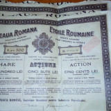 Vand actiuni Steaua Romana., Romania 1900 - 1950