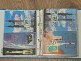 Clasor cu vederi timbrate / de prima zi / tema SPATIU - navete spatiale