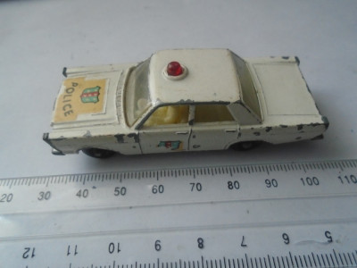 bnk jc Matchbox 55c Ford Galaxie Police Car foto