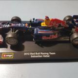 Macheta Formula 1 Sebastian Vettel Red Bull 2012, 1:32, Bburago