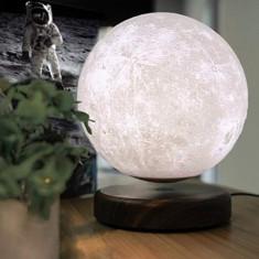 Luna Wireless 3D LED, Lampa care pluteste prin levitatie magnetica, Antech Sim