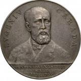 Medalia Eugeniu Carada, fondator BNR, 1936, RARA