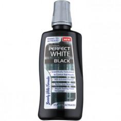 Beverly Hills Formula Perfect White Black Apa de gura pentru albire cu particule de carbon pentru o respiratie proaspata