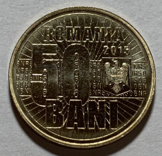 50 Bani 2015  Romania, 10 Ani denominarea monedei nationale 2005, din fisic, UNC foto