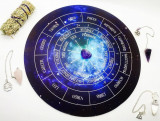 Placa pendul - Astrologie +3 penduluri cadou ametist,cuart roz,cristal de stanca, Christina Jewelry