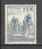 Cehoslovacia.1953 Cursa pacii la ciclism  PC.29, Sport, Nestampilat