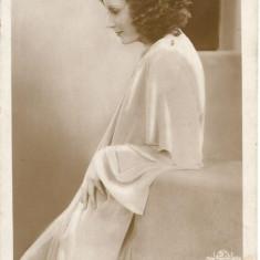 (A) carte postala-ACTORI- Greta Garbo, Necirculata, Printata
