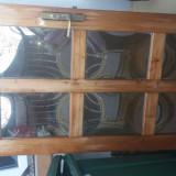 Usa lemn cu geam bombat