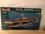 Macheta vapor USS NIMITZ (CVN-68), scara 1:1200, Revell, partial ansamblata, 1:50
