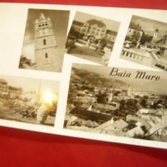 Ilustrata Baia Mare - cu 5 Vederi , circulat 1961, Circulata, Fotografie