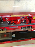 HOT WHEELS CAMION  34 cm MACHETA TRANSPORTER   F1 SF SANDERIA FERRARI, 1:43