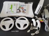 Set Wii modat +placa fitness + 32Gb + 2 manete + 2volane + jocuri mario, sport