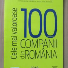 Top 100 cele mai valoroase companii din Romania 2018 - Anuar Ziarul Financiar