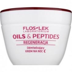 FlosLek Laboratorium Oils & Peptides Regeneration 60+ crema regeneratoare de noapte cu efect de intinerire