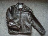 Geaca piele naturala/barbati/Moto/Motor/Vintage/Casual/DAVIDSON MOTOR model 1957, M/L, Maro