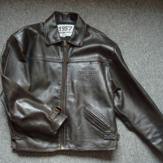 Geaca piele naturala/barbati/Moto/Motor/Vintage/Casual/DAVIDSON MOTOR model 1957
