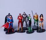 Set Figurina Superman Batman Wonder Woman  Flash Green Lantern 13 cm