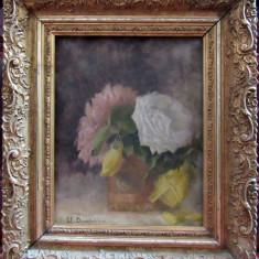 TABLOU Flori, pictura pe panza in ulei,, Realism
