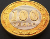 Moneda bimetal  100 TENGE - KAZAHSTAN, anul 2004   *cod 72, Asia