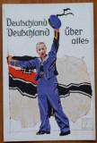 Carte postala militara germana , Deutschland über alles , primul razboi mondial
