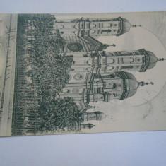 Carte postala clasica Bucuresti, biserica sf. Spiridon, circulata Spic de grau