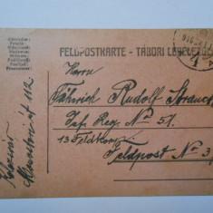 Carte postala militara, circulata, 1916