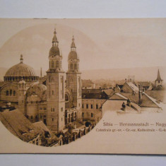 Carte postala Sibiu, Hermannstadt, Catedrala greco-ortodoxa, Necirculata, Fotografie