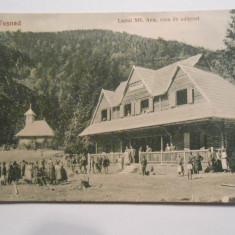 Carte postala Tusnad, Lacul SF. Ana, casa de adapost, necirculata, Fotografie