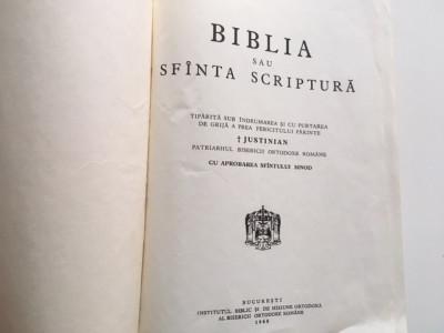 BIBLIA sau Sfanta Scriptura 1968- SUB INDRUMAREA PATRIARHULUI JUSTINIAN foto