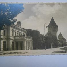 Carte postala Sibiu, Teatrul orasenesc, circulata 1936