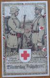 Carte postala oficiala germana , Crucea Rosie , 1917, Germania, Necirculata, Printata