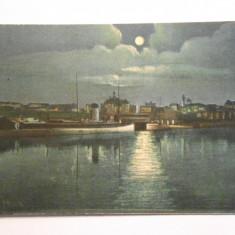 Carte postala Constanta, vaporul  Romania, necirculata