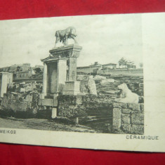 Ilustrata Grecia inc.sec.XX - Ceramica, Necirculata, Printata