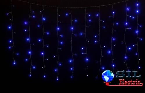 Perdea 100 LED-uri albastre cu jocuri de lumini cablu negru WELL