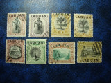 LOT LABUAN 1894/1900, Stampilat