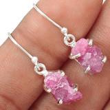 Cercei Turmalina roz  bruta-Ag 925